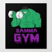 gym Canvas Prints featuring gamma gym by Louis Roskosch