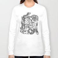 rabbits Long Sleeve T-shirts featuring Rabbits by Ray Eng
