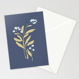 Forget Me Nots 3 Stationery Cards