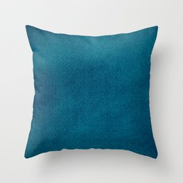 Blue Watercolor Square Throw Pillow