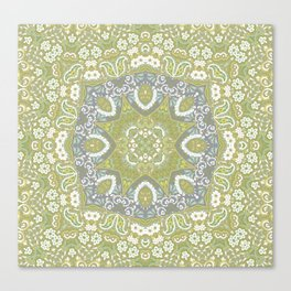 Spring Summer Embroidery Look Canvas Print