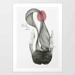 con el corazón tan suave como yo Art Print