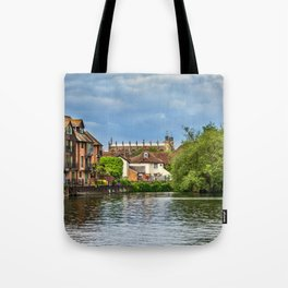 Eton College Chapel From The Thames Tote Bag