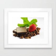 Café Chocolat Fraise Framed Art Print