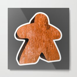 Giant Orange Meeple Metal Print