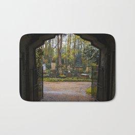 Cemetery gates Bath Mat