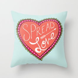 spread love heart Throw Pillow