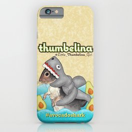 Little Thumbelina Girl: avocado shark iPhone Case