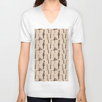 tool V-neck T-shirts featuring Tool Pattern by Jessica Roux