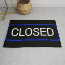 Closed Neon Sign Rug