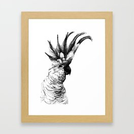 Cocky cockatoo Framed Art Print