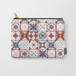 Tile pattern Carry-All Pouch
