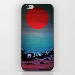 Red Moon iPhone Skin