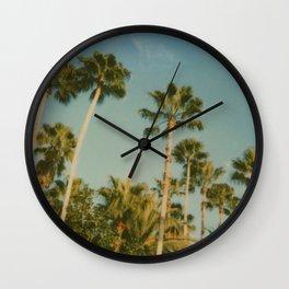 Polaroid: Palm Trees Wall Clock