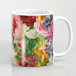Colorful Floral Pattern | Je t'aime encore Coffee Mug