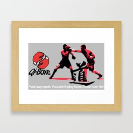Qi-Boxe - You don't Play Boxe Framed Art Print