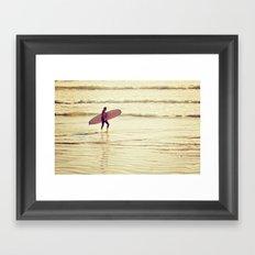 Golden Surf Framed Art Print