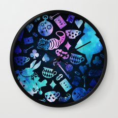 Alice in Wonderland - Galaxy Wall Clock
