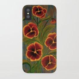 Pansies-2 iPhone Case
