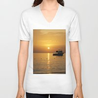 jamaica V-neck T-shirts featuring Sunset in Jamaica  by Jason Carnegie