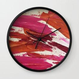 Pink Scrape Wall Clock
