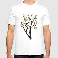 WHITE TREE White MEDIUM Mens Fitted Tee