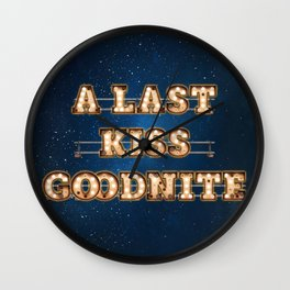 A last Kiss Goodnite -  Wall-Art for Hotel-Rooms Wall Clock