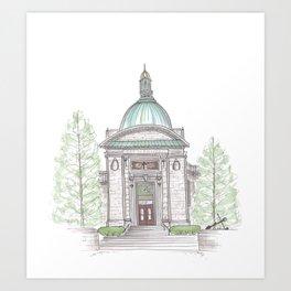 Naval Academy Chapel Art Print