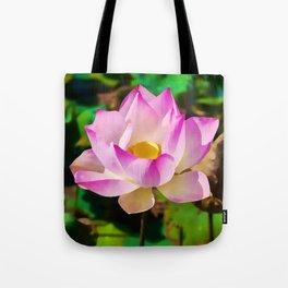 The Sacred Lotus   Watercolor Painting Tote Bag
