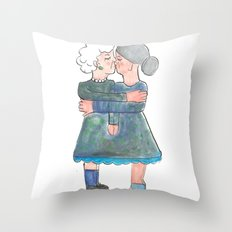 My grandma's are lesbians Throw Pillow