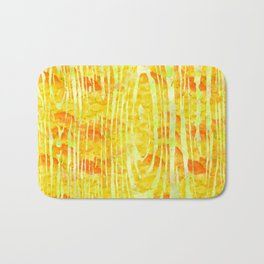 Yellow Wood Print Bath Mat