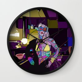 Gen Stefani 80s Cyberpunk singer Wall Clock