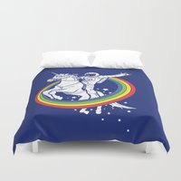 kitty Duvet Covers featuring Epic Combo #23 by Jonah Makes Artstuff