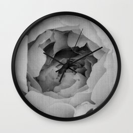 Blak and white rose Wall Clock