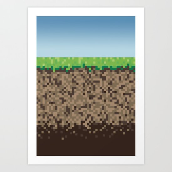 Minecraft Block Art Print