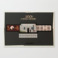 stanley kubrick Canvas Prints featuring 2001 A Space Odyssey_Directed by Stanley Kubrick by federico babina