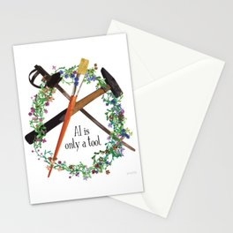 AI is only a tool Stationery Cards