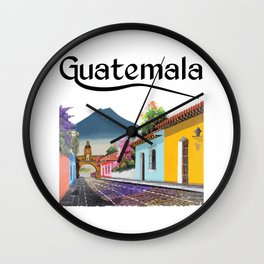 Guatemala Antigua Coffee Quetzal Chapin Guate Peten Tikal Maya Puchica Gift Retro Wall Clock