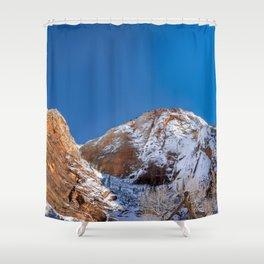 Zion Winter - 4536 Big_Bend_Viewpoint Shower Curtain