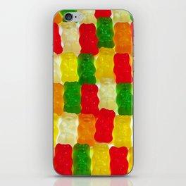 Colorful gummi bears iPhone Skin