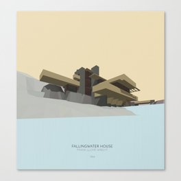 Fallingwater house Canvas Print