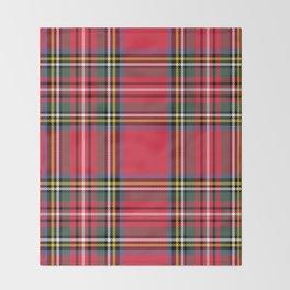 Red & Green Tartan Pattern Throw Blanket