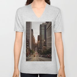 Lingering in San Francisco Unisex V-Neck