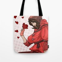 valentina Tote Bags featuring Be my Valentina by LaurenceBaldetti