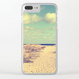 Beach whisper Impression Clear iPhone Case