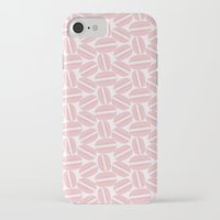macaroon iPhone & iPod Cases featuring Rose Pink Macaron Pattern - France Art - French Macaroon by French Macaron Art Print and Decor Store