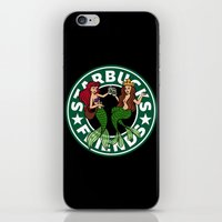 starbucks iPhone & iPod Skins featuring Starbucks Friends  by Ellador