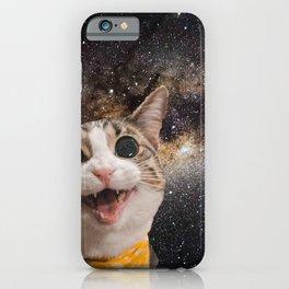 Cute Astro Space Cat In Universe iPhone Case