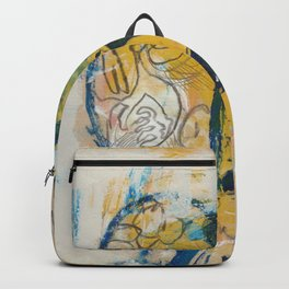 blue cat home Backpack