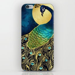 Golden Peacock iPhone Skin